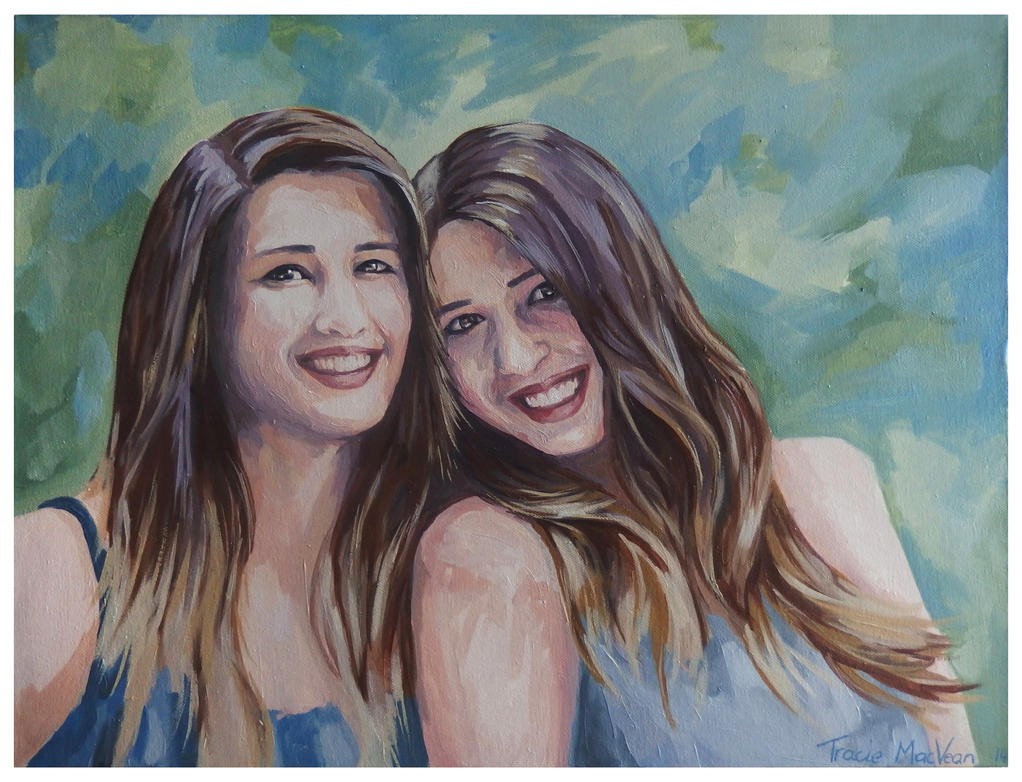 Portrait of Twins. by TracieMacVean