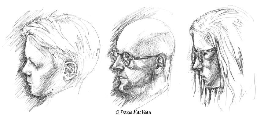 Three Portraits. by TracieMacVean