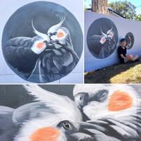 Mural - Cockatiel. by TracieMacVean