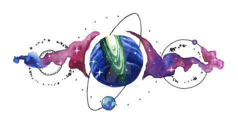 Cosmic Tattoo design.