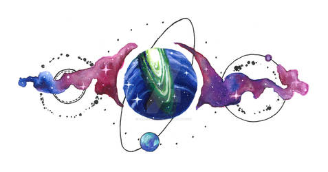 Cosmic Tattoo design.