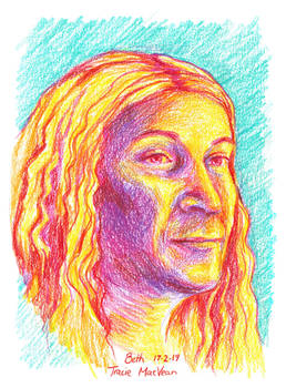 Portrait - Bethany in pencil.