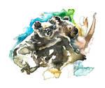 Koala and Joey 21 x 15cm by TracieMacVean
