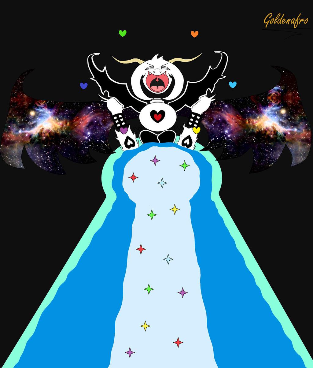 (Undertale) Asriel Dreemurr (colored) By Goldenafro On