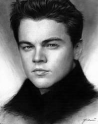 Charcoal drawing of Leonardo DiCaprio