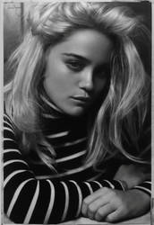 Sky Ferreira charcoal drawing