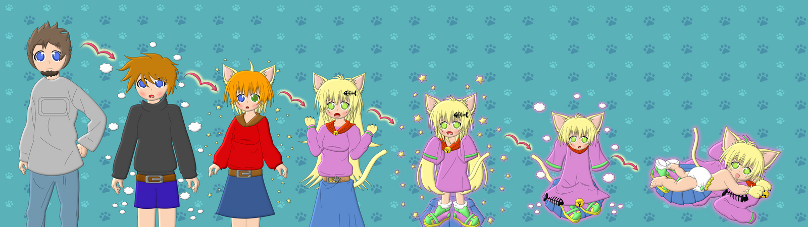 Project TG AR Gold Into Goldie The Little NekoGirl by MikotoWolfskin