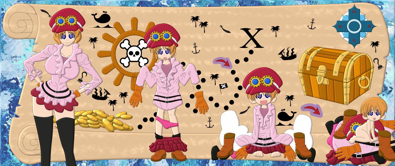 One Piece Baby Treasure?! by MikotoWolfskin