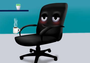 Chair Kun Having Coffee