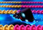 Chair kun goes swimming