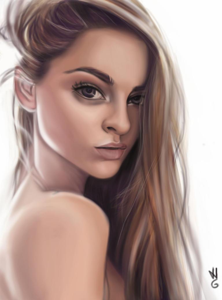 girl portrait by hel78