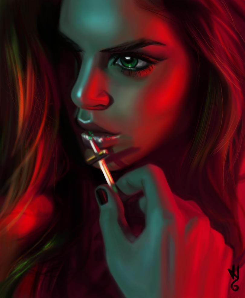 girl portrait 2 by hel78