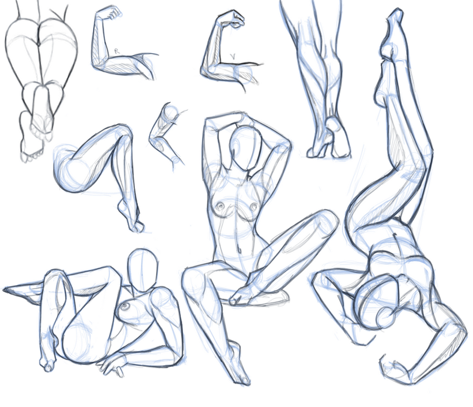 pose study 1 by hel78