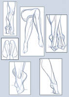 pose study / legs and foots