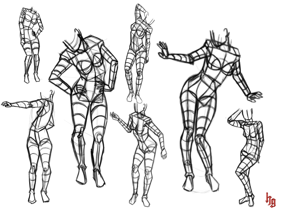 pose study 7 by hel78