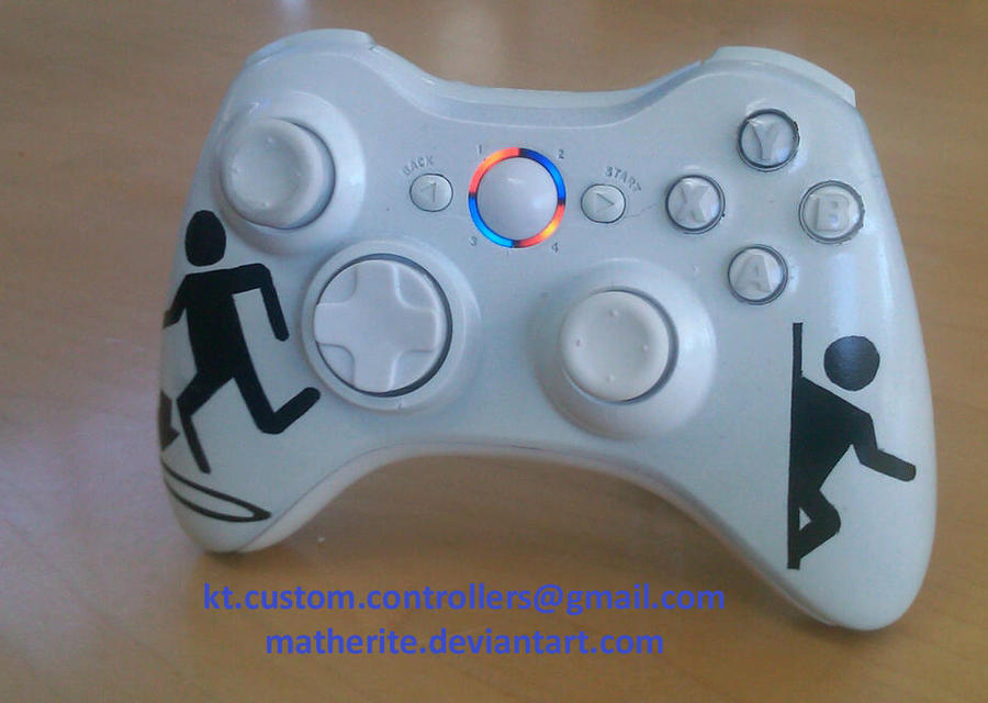 Portal Xbox 360 Controller by matherite on DeviantArt