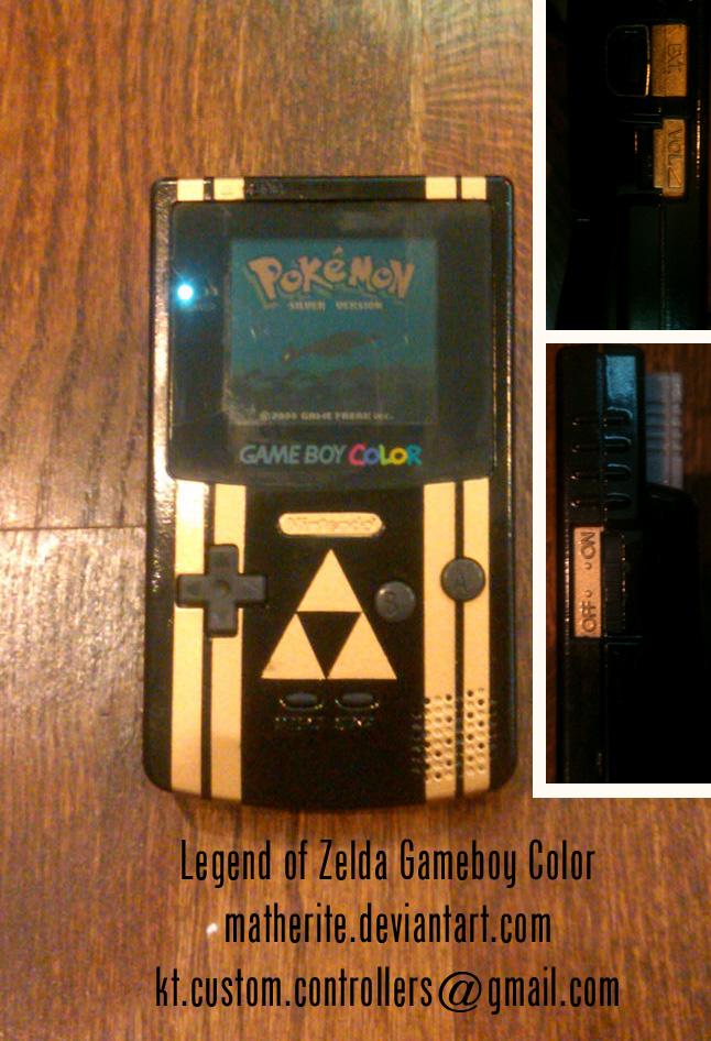 Legend of Zelda Custom Gameboy Color by matherite