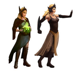 Two magic girls