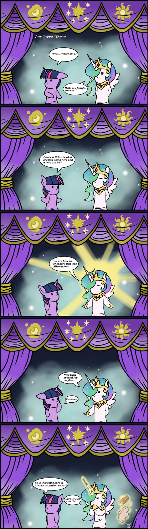 Pony Puppet Theater #7 Alicorn Ascension by MangaMeister