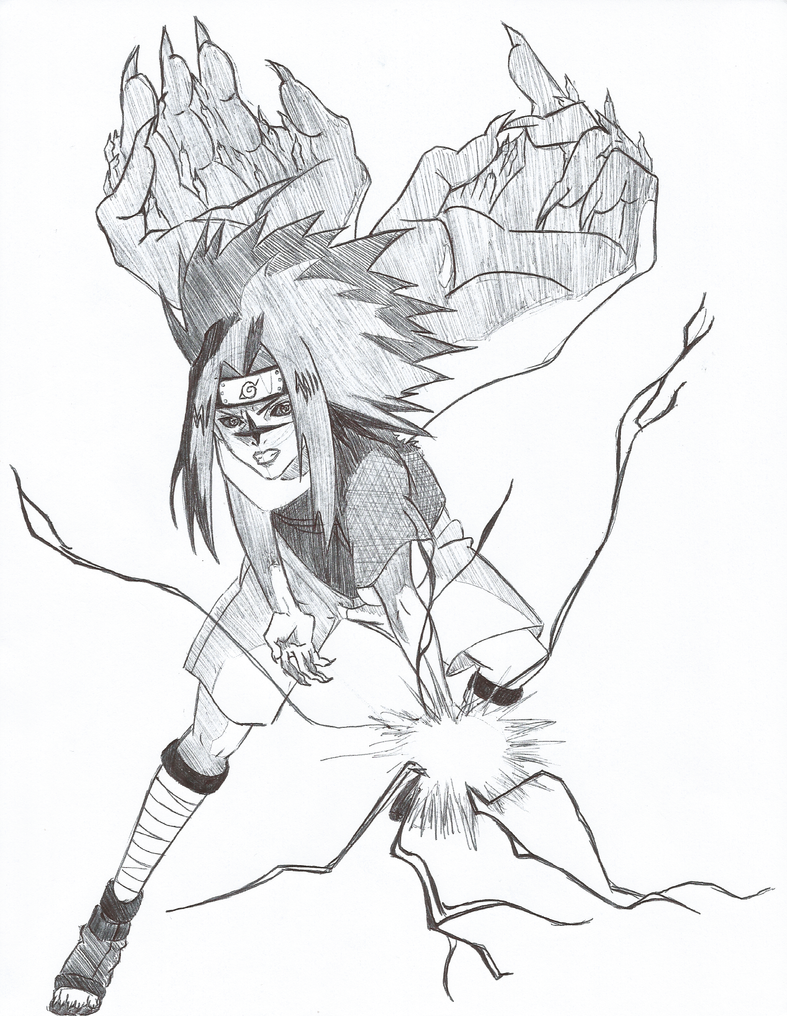 Sasuke Curse Mark Level 2 Chidori by BriKwong on DeviantArt