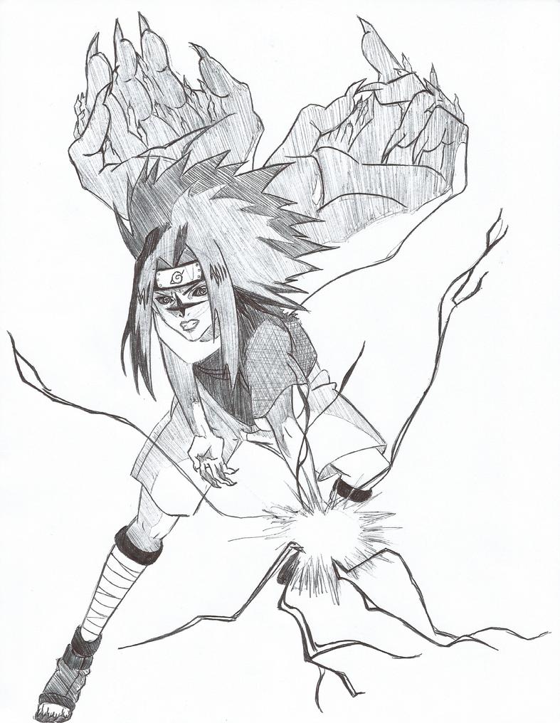 Sasuke Curse Mark Level 2 Chidori by BriKwong on DeviantArt