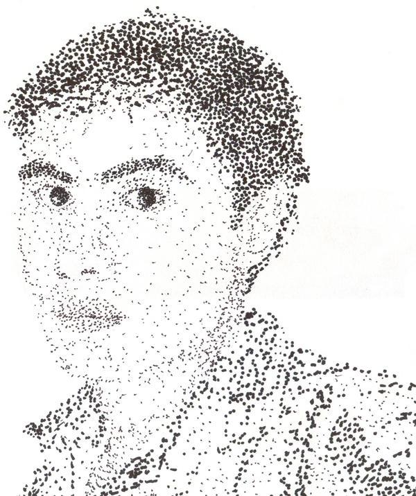 A self portrait... IN DOTS by Janus-Rakeldant