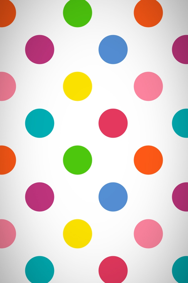 gallery for colorful polka dot wallpaper