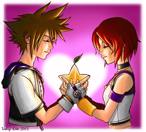 Sora and Kairi Valentine by tashigi