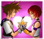 Sora and Kairi Valentine
