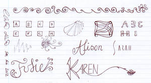 Girl's Names + Sketches