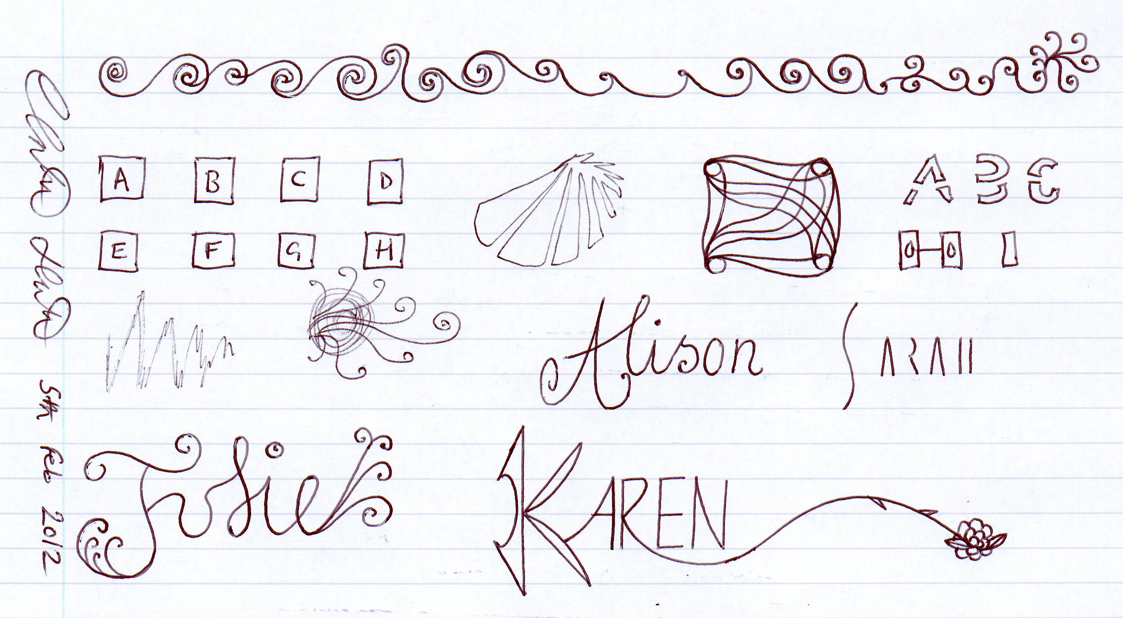 Girl's Names + Sketches