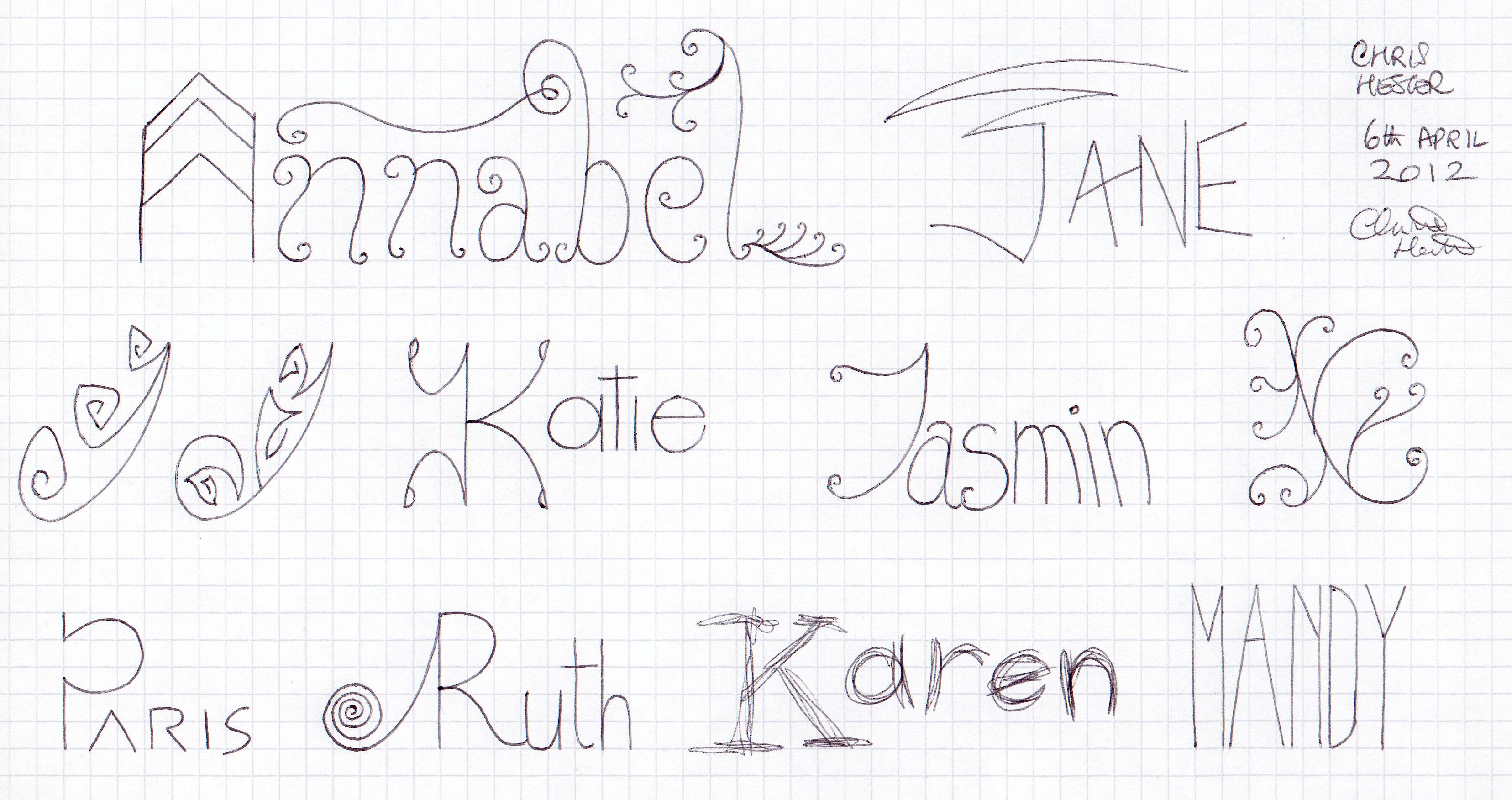 Girl's Names 4 by christopherhester
