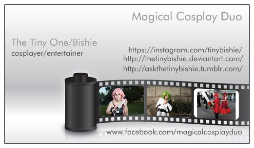 Coscard of The Tiny One/Bishie by TheTinyBishie