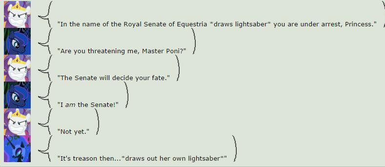 Jedi Pony Battle by selvokaz