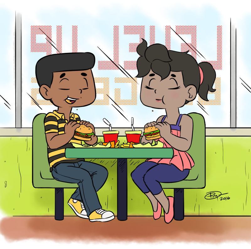 GOAB having burgers by daptosto