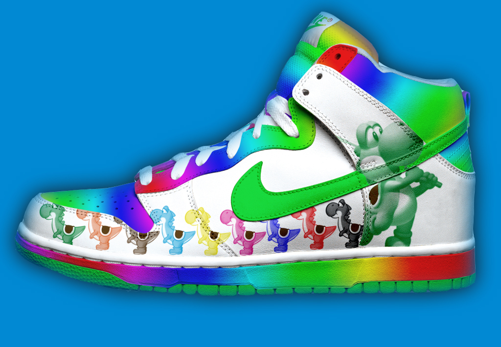 Yoshi Nikes by MarikTheYoshi