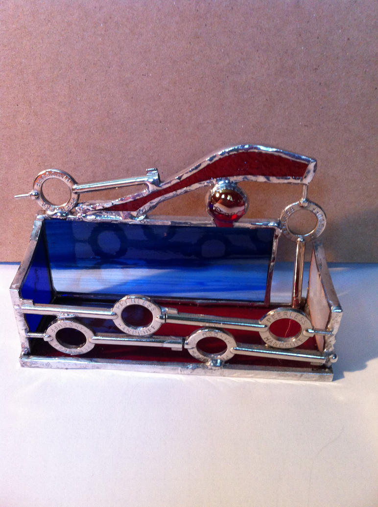 Stained glass business card holder-police officer by Frigawesome on ...