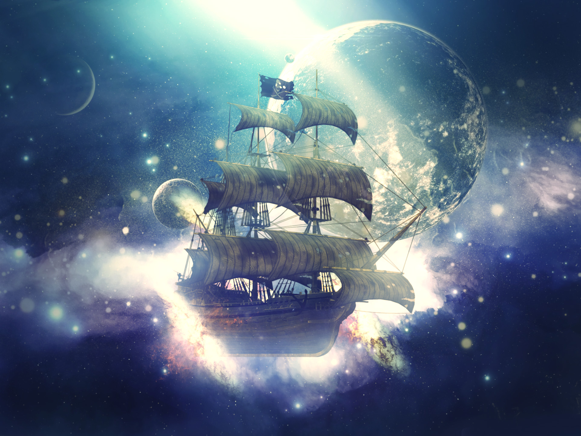 Photomanipulation Space Pirates by SLay-ART