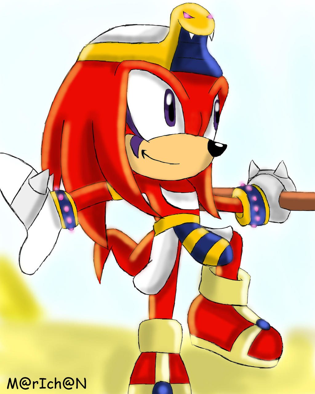 PHARAON GUARDIAN - KNUCKLES by 7marichan7