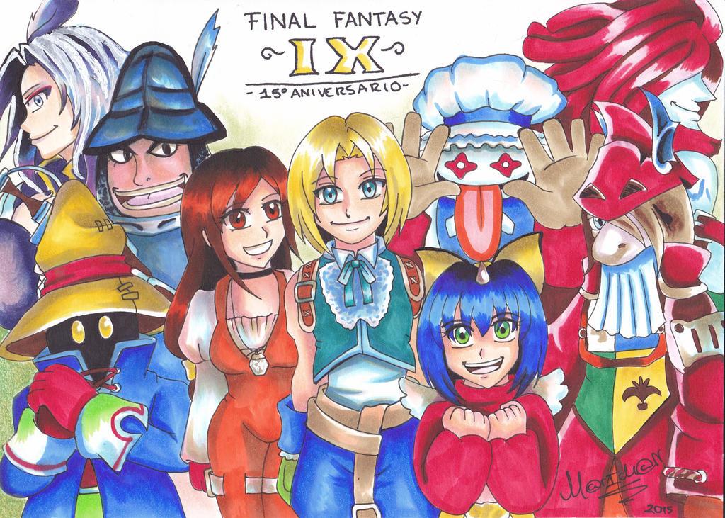 Final Fantasy IX 15TH Anniversary by 7marichan7