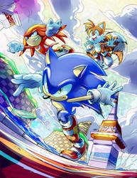 Sonic Heroes Color Challenge by 7marichan7