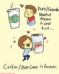 Chris Colfer and Diet Coke