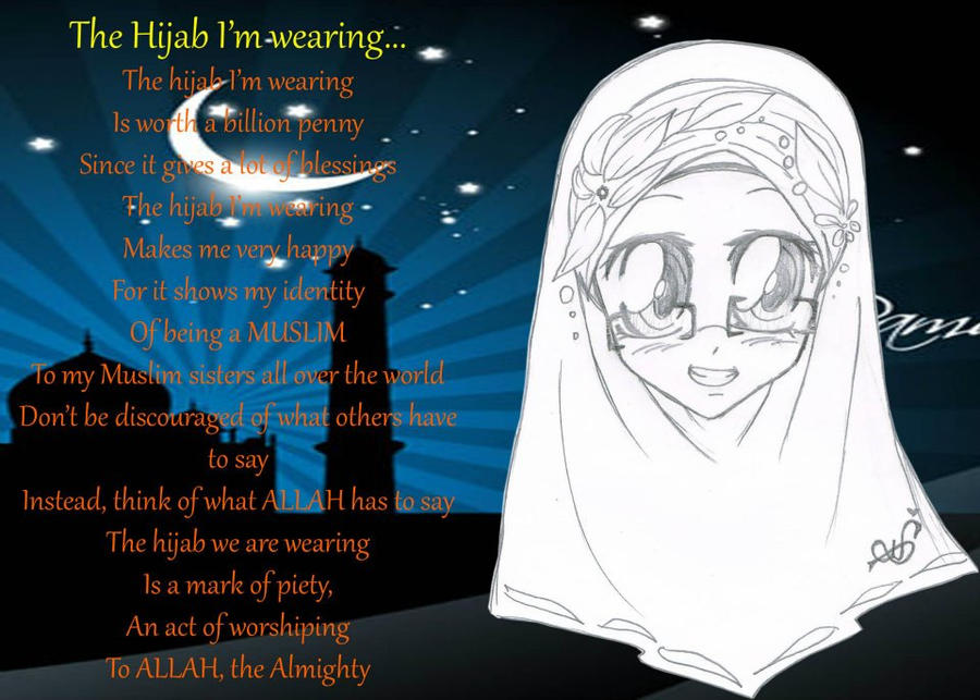 The Hijab I'm wearing by Zhar-nee