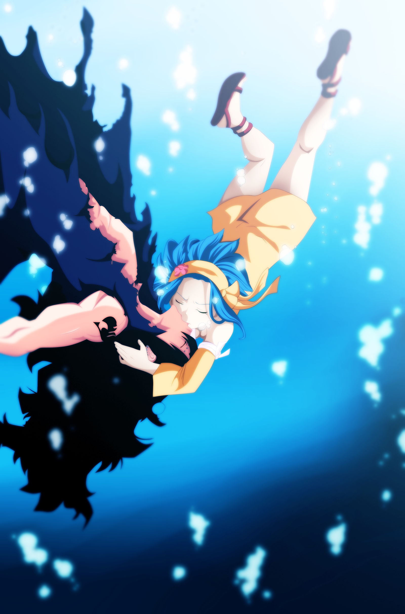 Gajeel and Levy Kiss by StormStyle on DeviantArt