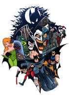 Batman: TAS tattoo design by milxart