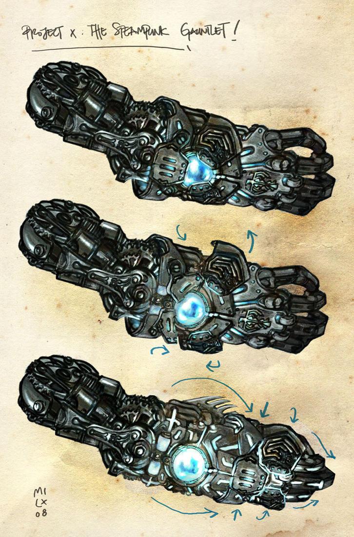 Steampunk Arm design by milxart