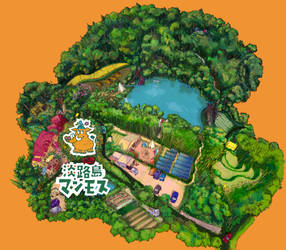 Awajishima Mammoth Nature Park map