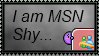 I am MSN Shy stamp by Unknown-D-Flamerose