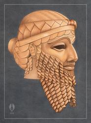 Akkadian King (study) by yoctoparsec