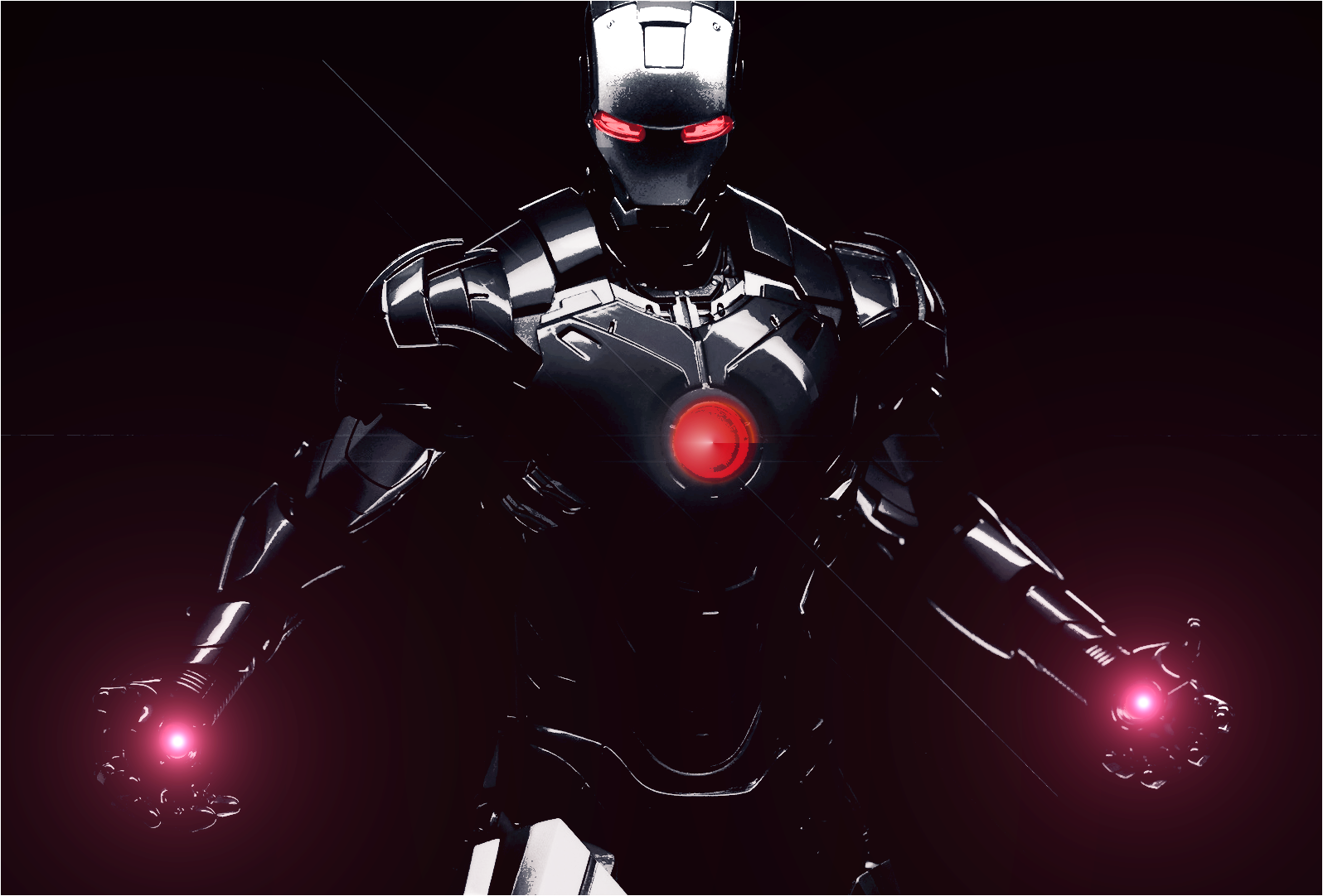 Iron Man in black by deviationanonymous on DeviantArt